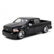 2014 Dodge Ram 1500 Pick Up Truck Black Custom Edition 1/24 by Jada 54040