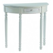 Casa Padrino Console Table With Drawers Antique White Shabby Chic - Half Moon Table - Secretary Console - Telephone Table