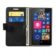 MOFI Lumia 525 Sparkle Case Flip Cover Slim Fit Case Protective flip Cover for Nokia Lumia 525 (Black