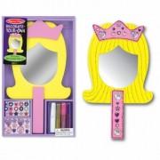 Princess Mirror Decorate-Your-Own Kit + FREE Melissa & Doug Scratch Art Mini-Pad Bundle [33473]