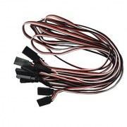 VIMVIP 50cm 500mm Male to Female Servo Extension Lead Wire Cable for KK MWC Eagle Control Board (Pack of 10pcs)