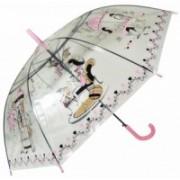 Deštník dámský holový průhledný růžový 9164-5 9164-5