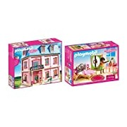 Playmobil Deluxe Doll House and Master Bedroom Bundle