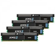 Memorie Corsair XMS 16GB (4x4GB) DDR3, 1600MHz, PC3-12800, CL9, Dual Channel, Quad Kit, CMX16GX3M4A1600C9