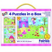 Galt Juguetes Hadas 4 rompecabezas en una caja (Multi-Color)