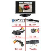 """3.5"""" mini monitor + vezeték nélküli tolatókamera szett"""