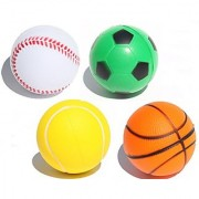 Sports Themed Relax Ball Squeeze Foam Stress Balls (12 pieces)