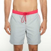 Mr.Swim The Dale Solid With Contrast Stitching Shorts Swimwear Steel
