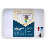 Moore: Magnetic Dry Erase Board & Accessories Including 3 Markers with Eraser