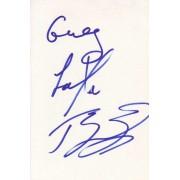 Taylor Dayne Autographed Index Card
