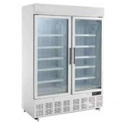 Congelador expositor de dos puertas con panel iluminado Polar GH507