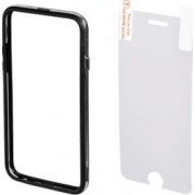 Bumper Hama iPhone 6 Black + folie protectie