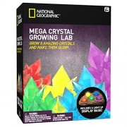 Mega Crystal Growing Lab 8 Colors To Grow With Night Light Display Stand!