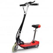 vidaXL Електрически скутер със седалка 120 W, цвят червен