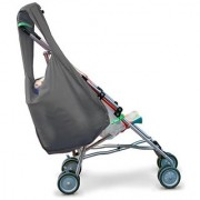 Hatch Things SureShop Reusable Shopping Bag That Clips On To Keep Strollers Standing Grey