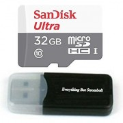 32GB 32G Sandisk Micro SDXC Ultra MicroSD TF Flash Class 10 Memory Card for DBPOWER Waterproof Action Camera with Everything But Stromboli Memory Card Reader