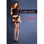 Gabriella - Elegant stockings with suspender belt Shadow 15 DEN