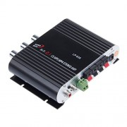 Generic 2.1 3 Channel Stereo Mini Computer Audio Amplifier Subwoofer Out Amplifiers LP-838 Amplifier Black/Silver