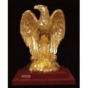 """Ръчно изработена статуетка с 22 карата златно покритие """"Орел"""" (A041)"""