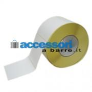 Etichette adesive in carta Vellum 100 x 100 mm per stampanti Industriali a trasferimento termico (ribbon necessario)