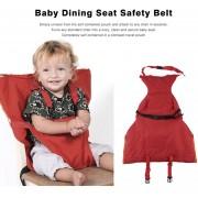 ER El Bebé Lactante Portátil Almuerzo De Comedor Del Cinturón De Seguridad Del Asiento Silla Baby Care Mazo - Rojo