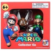 """Mario Super Mario Collector Tin Series 1 Figure-Luigi & Paragoomba Aprox 1.5"""""""