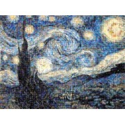 Buffalo Games Photomosaic, The Starry Night - 1000pc Jigsaw Puzzle by Buffalo Games