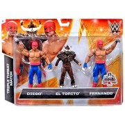 WWE Wrestling Exclusives Diego, El Torito & Fernando Exclusive Action Figure 3-Pack by WWE Exclusives
