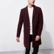 River Island Dark red smart overcoat
