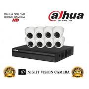 Dahua HDCVI DH-HCVR4108HS-S2 8CH DVR + DH-HAC-HDW1000RP-0360B Dome Camera 8Pcs CCTV Combo