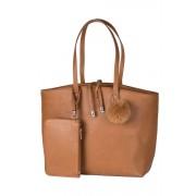 Womens Shopper Bag - Tan