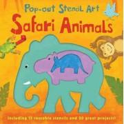 Pop-out Stencil Art: Safari Animals by Laura Hambleton