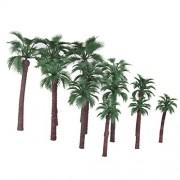 12pcs Serious Play Model Palm Trees Railway Warhammer Scenery Plastic Tree