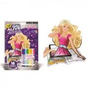 Ty crayola color alive album da colorare barbie