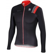 Sportful Bodyfit Thermal Jersey Men Black/Anthracite/Fire Red 2016 XL Trikots langarm