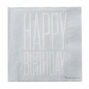 "Pachet Servetele "" Happy Birthday "", l33xL33 , 20 buc/pachet"