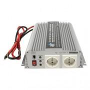 HQ INV1KW Inversor de corriente para vehículos (indicadores LED, 1000 W, 230 V), plateado