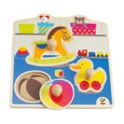 """Hape E1301 - Puzzle con Pomello """"I Miei Giochi"""", Multicolore"""