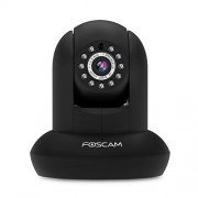 Foscam FI9821P Plug and Play HD 1280 x 720p H.264 Wireless/Wired Pan/Tilt IP Camera - 26ft Night Vision and 2.8mm Lens (70° Viewing Angle) - Black