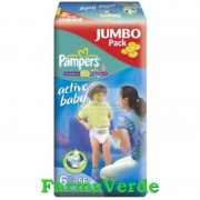 Scutece Active Baby-Extra Large Nr 6 Pampers Jumbo 56 buc