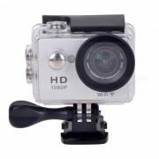 """""""H1080P N9 WIFI impermeable camara de 12MP Deportes w / LCD 2 """"""""? HDMI - plata"""""""