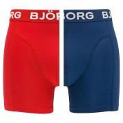 Boxershorts 2-pack Rood & Blauw V