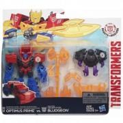 Transformers Robots in Disguise Decepticon Hunter Optimus Prime vs. Decepticon Bludgeon