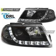 Přední světla, lampy s denním svícením, DRL VW Passat B5.5 3BG 00-05 černé