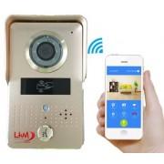 LKM Videocitofono Wi-Fi con telecamera e visione nottura con card di comando gestibile da smartphone protezione IP66 color oro