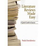 Literature Reviews Made Easy by Paula Dawidowicz