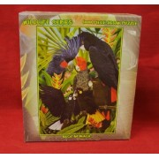 1000-piece Jigsaw Puzzle - Wildlife Series: BACK IN BLACK (tropical birds)..... by Casse-Tete