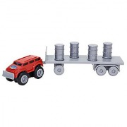 Max Tow Truck Mini Haulers Tow And Go Packs Red Push Truck With Barrel Accessories Vehicle