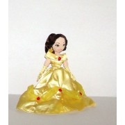 Belle 30cm Princesse Peluche Poupée Disney Princess Cheveux Bruns Robe Jaune Belle Et La Bête
