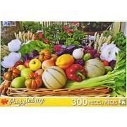 Fresh Fruit and Veggie Basket - 300 Piece Jigsaw Puzzle by Puzzlebug